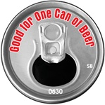 Good for One Can of Beer Token